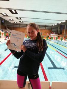 Caroline Marie Thingberg-Engø fikk premie for beste prestasjon blant jentene. Grattis!